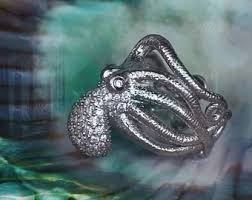 modern octopus ring holder images Tentacle ring etsy jpg