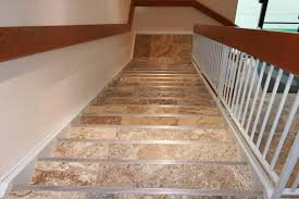 Laminate Floor Stair Nose Fluss Flooring Carlisle Pa Porcelain Tile Steps W Schluter Step