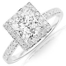 1500 dollar engagement rings 1 02 carat princess cut shape 14k white gold classic halo style