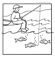 fishing coloring pages kids quiet book animals