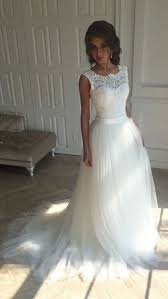 simple open back wedding dresses simple lace open back sleeveless a line wedding dresses with sash