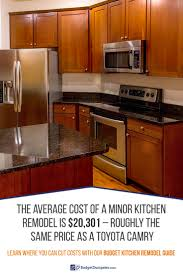 Average Cost To Remodel Kitchen How To Remodel A Kitchen On A Budget Budget Dumpster