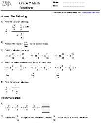 integers worksheet grade 7 worksheets releaseboard free
