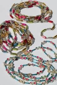 antique vintage mercury glass tree garlands bead swags