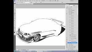 mitsubishi lancer drawing photoshop mitsubishi lancer evolution mod drawing hd youtube