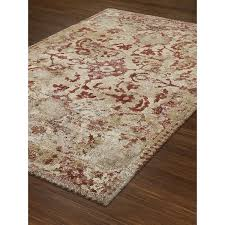 Rust Area Rug Wellington Distressed Rust Ivory Traditional Area Rug 5 3