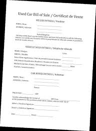 Sle Bill Of Sale For Automobile by Creating Template Bill Of Sale Template For Car Bill Of