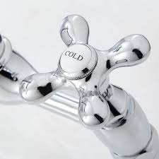 douglass bridge kitchen faucet cross handles kitchen handle detail