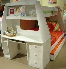 Built In Bunk Bed Desk Bunk Beds With Built In Desk And Drawers Bunk Bed With