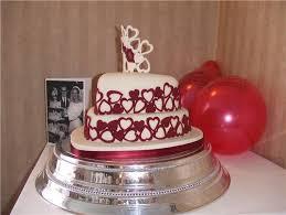 ruby wedding cakes 40th wedding anniversary cake decorations wedding corners