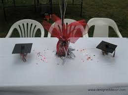 Homemade Table Centerpieces For Parties graduation party putting it all together