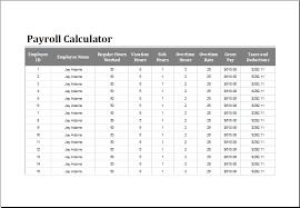 Excel Payroll Calculator Template Payroll Calculator Template For Excel Word Excel Templates