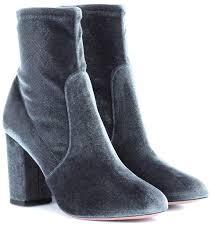 So Ankle Boots So Me 85 Velvet Ankle Boots Aquazzura Mytheresa