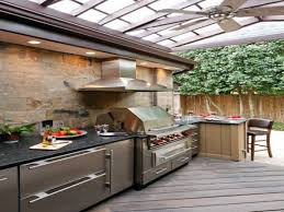 contemporary outdoor kitchen covered outdoor kitchen small