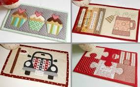 Quilted Mug Rug Pattern 10 Hobby And Fun Time Mug Rug Patterns In One Quilting Digest