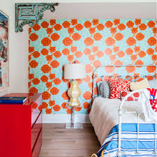 Modern Floral Wallpaper Bright Floral Wallpaper For Walls