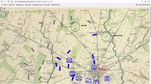 Battle Of Gettysburg Map Gettysburg Animated Map Day 1 Version 1 Youtube