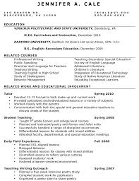 Preschool Teacher Resume Objective Resume Professional Medium Size Of Curriculum Vitaegeneral Career
