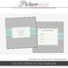 gift certificate photoshop template for photographers marketing