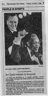 Joe Boxer Chair Article About Joe Louis Entering The Hospital With Picture Of