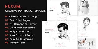 personal portfolio template nexum u2013 html5 personal portfolio template snazzytheme com