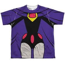 teen titans raven uniform sublimated youth shirt teen
