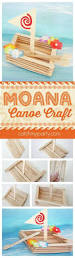 fun moana canoe craft perfect for a moana birthday party activity