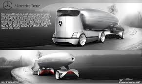mercedes truck mercedes e truck is a design study from the future