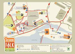 Festival Map Richmond Folk Festival