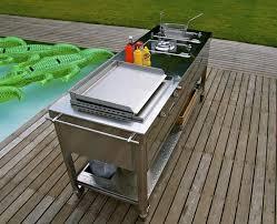 meuble cuisine exterieur inox meuble de cuisine avec evier inox 3 meuble cuisine exterieure