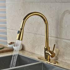 discount kitchen faucets pull out sprayer columbine gold finish kitchen sink faucet with pull out sprayer