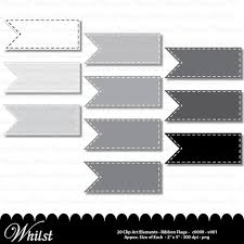 gray ribbon gray ribbon digital clip digital frame flag