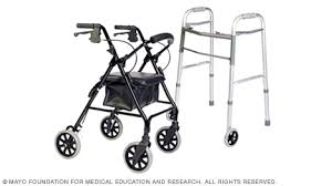 senior walkers with wheels slide show tips for choosing and using walkers mayo clinic