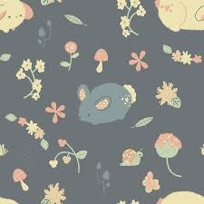 pattern illustration tumblr bunny garden pattern by pronouncedyou on deviantart