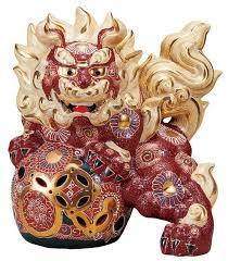 kutani shishi japanese leo shishi lion dog kutani porcelain mori