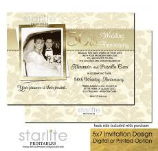 golden 50th wedding anniversary invitation 50th anniversary photo
