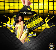 party flyer free yellow and black party flyer free psd by gallistero on deviantart