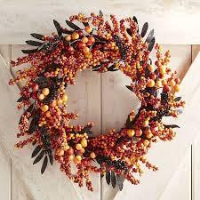 pier 1 imports orange berry wreath best fall wreaths