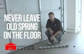 Overhead Garage Door Springs Replacement Garage Door Replacement Guide How To Tutorial Garage