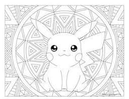 pokemon color pages pikachu 29 best pokémon images on pinterest mandalas anime crafts and books