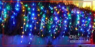 multi colored led christmas lights 4m 140 led xmas decoration curtain icicle lights with dropped