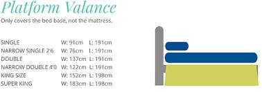 Elasticated Valance Bed Divan Base Wrap Valance Sheet 15