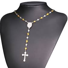 christian jewelry store aliexpress buy rosary necklace for men women christian
