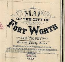 Ft Worth Map Old Texas Fort Worth Wall Map Vintage Historical Map Antique