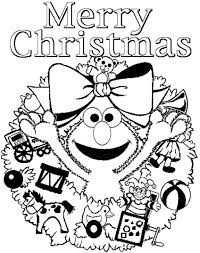 elmo coloring pages for christmas free printable christmas
