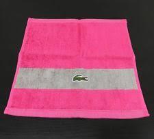 Lacoste Bathroom Set Lacoste Bathroom Striped Bath Washcloths Ebay