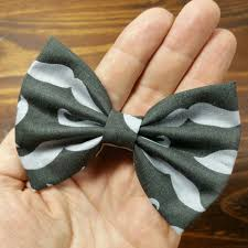 handmade hair bows hair bow fabric hair bow gray by arlyn s creations on