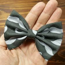 handmade hair hair bow fabric hair bow gray by arlyn s creations on