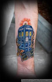 fantastic doctor who tardis tattoo pic global geek news