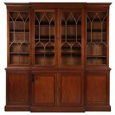 Break Front Bookcase American Federal Mahogany Library Bookcase Breakfront Cabinet